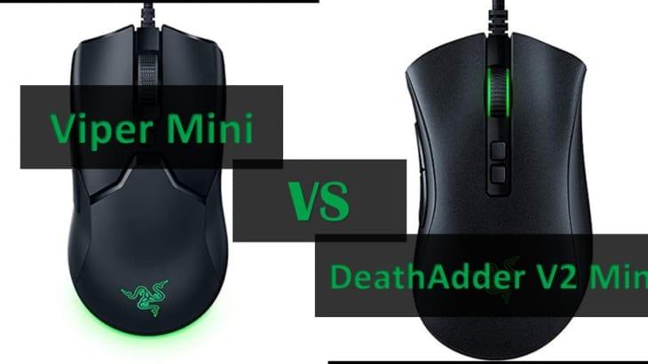 Razerマウス「Viper Mini」と「DeathAdder V2 Mini」の違いはこれか!性能そっくりなゲーミングマウスを比較
